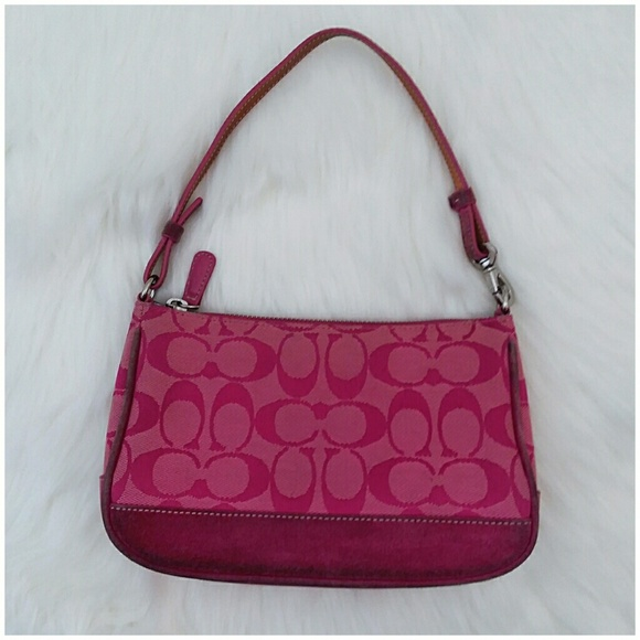f0f7fea3c3c Coach Bags   Pink Signature Canvas Mini Bag   Poshmark
